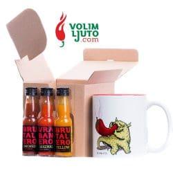 Smoking Hot Mug+ 3 hot sauces - ILikeItHot.eu