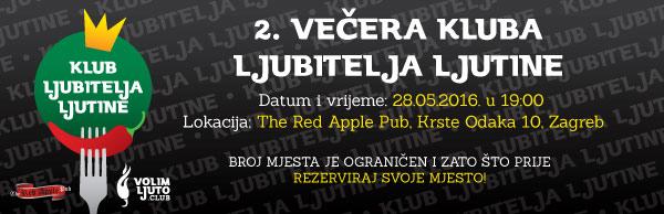 2. večera Kluba ljubitelja ljutine - 28.05.2016. @ The Red Apple pub 1