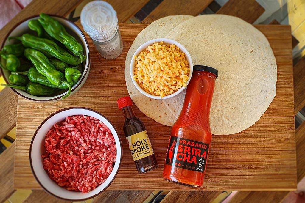 Quesadilla s junetinom i papričicama 1