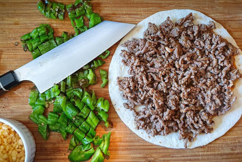 Quesadilla s junetinom i papričicama 4