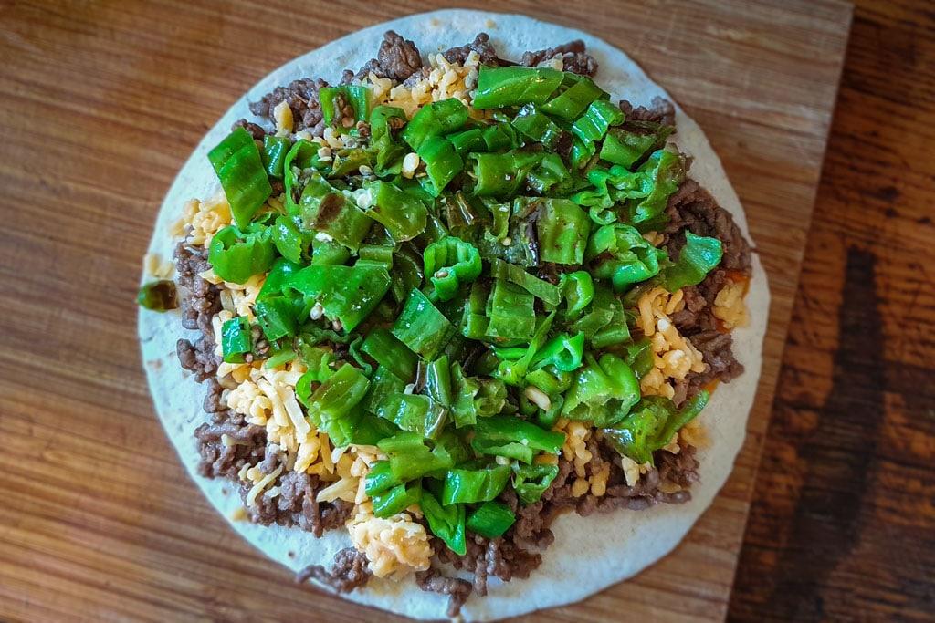 Quesadilla s junetinom i papričicama 5