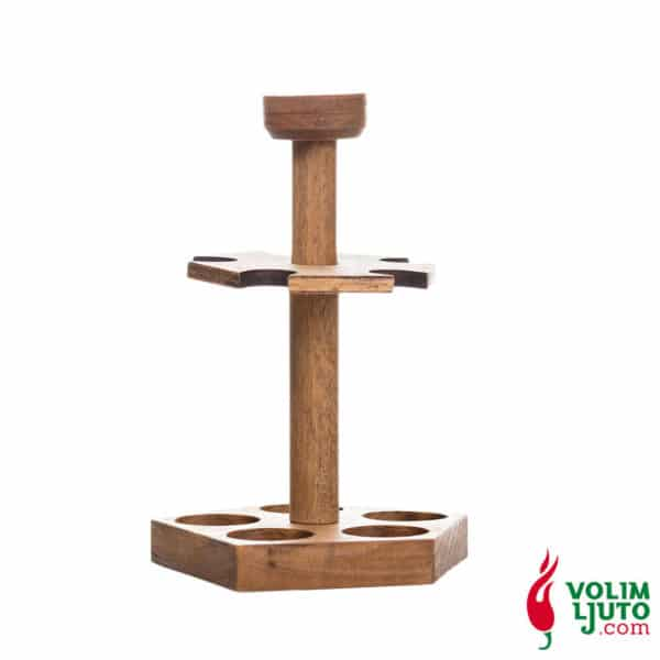 Drveni stalak s 5 ljutih umaka 20ml 7