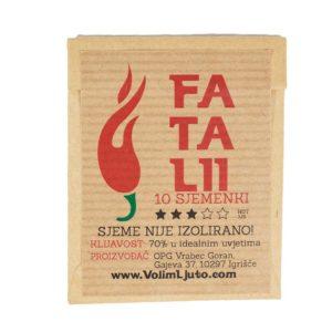 Fatalii - Sjemenke chili papričica 5