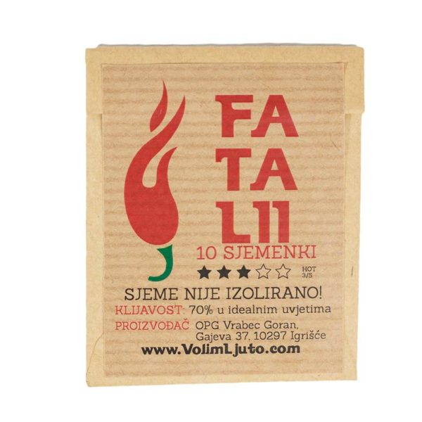 Fatalii - Sjemenke chili papričica 4