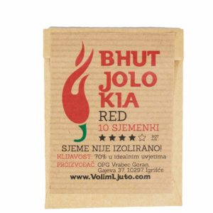 Bhut Jolokia Red - Sjemenke chili papričica 5
