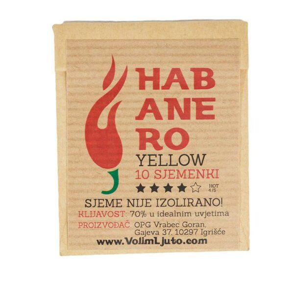 Habanero Yellow - Sjemenke chili papričica 4