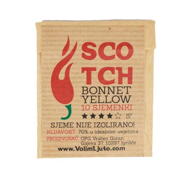 Scotch Bonnet Yellow - Sjemenke chili papričica 4