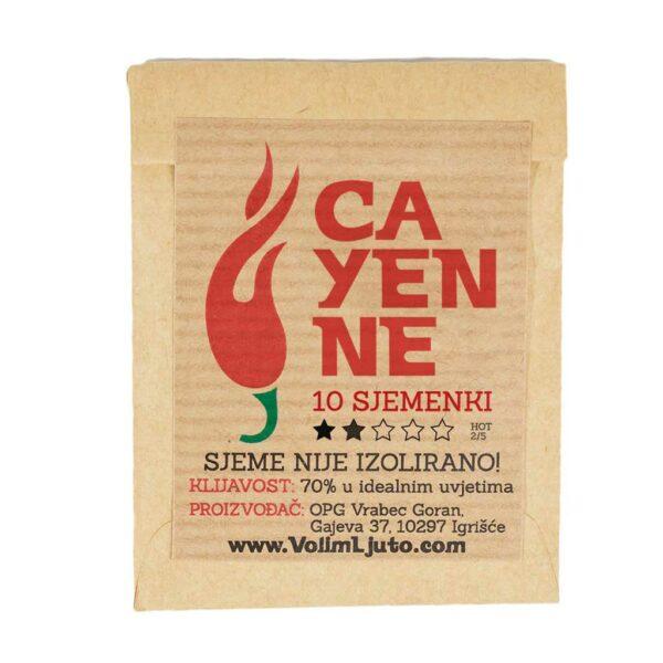 Cayenne - Sjemenke chili papričica 3