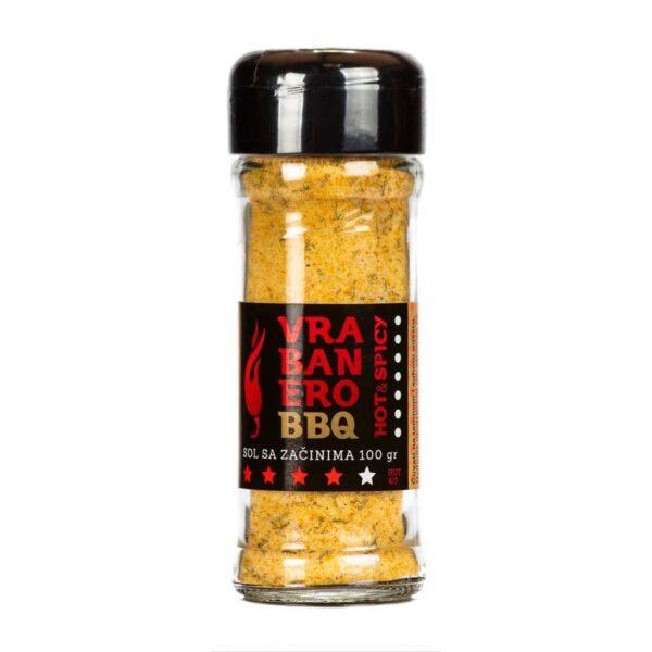 Vrabanero BBQ sol Hot Spicy 100g 2