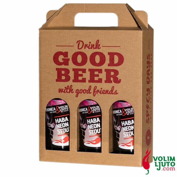 Habaneon stout ljuto pivo poklon paket 3