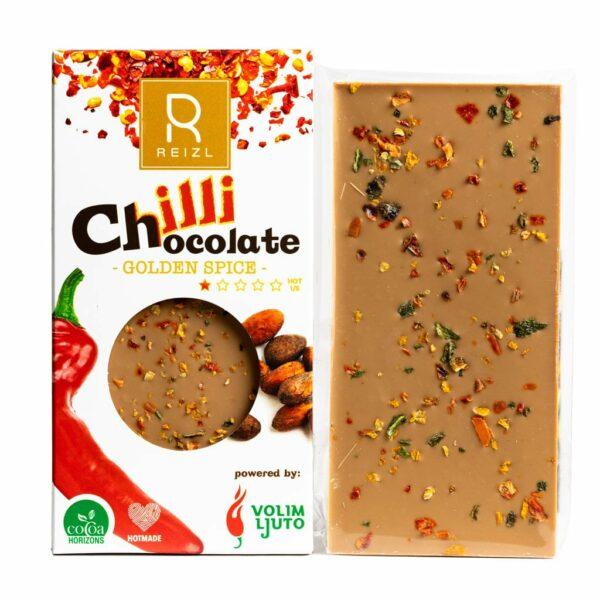 Reizel Chilli Chocolate - Golden Spice ljuta čokolada 70g